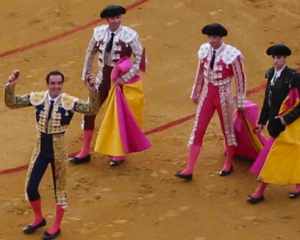 four bullfighters